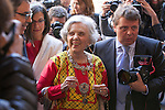 Mexican journalist Elena Poniatowska before a ceremony to present Poniatowska the 2013 Cervantes Prize Literature prize at Alcala University in Madrid, Spain. April 23, 2014. (ALTERPHOTOS/Victor Blanco)