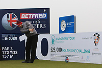 Stephen Gallacher (SCO) and on the 10th tee during the Pro-Am of the Betfred British Masters 2019 at Hillside Golf Club, Southport, Lancashire, England. 08/05/19<br /> <br /> Picture: Thos Caffrey / Golffile<br /> <br /> All photos usage must carry mandatory copyright credit (© Golffile | Thos Caffrey)