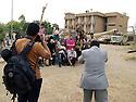 Iraq 2011 <br /> In Suleimania,  Kurdish photographers in Amne Tseraka after the exhibition of their pictures <br /> Irak 2011 <br /> Souleimania: Des  photographes kurdes celebrent la fin d'ateliers photographiques avec leurs formateurs americains a Amne Tseraka, l'ancien centre de la s&eacute;curit&eacute; irakienne
