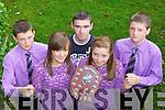 Sliabh Luachra dancers l-r: Conor Crowley, Danielle Vaughan, Adrian Moriarty, Ciara O'Doherty and Dean Crowley who won the u18 half set at the All Ireland Fleadh Cheoil in Cavan last weekend..