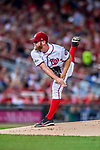 6 October 2017: Washington Nationals starting pitcher Stephen Strasburg on the mound in the first inning of the NLDS Game One against the Chicago Cubs at Nationals Park in Washington, DC. The Cubs shut out the Nationals 3-0 to take a 1-0 lead in their best of five Postseason series. Mandatory Credit: Ed Wolfstein Photo *** RAW (NEF) Image File Available ***
