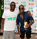 MIAMI BEACH, FL - JUNE 21: DJ Irie and Pleasure P. attend  DJ Irie Weekend-IWX - BBQ Beach Bash Pool Party at National Hotel on Saturday June 21, 2014 in Miami Beach, Florida. (Photo by Johnny Louis/jlnphotography.com)