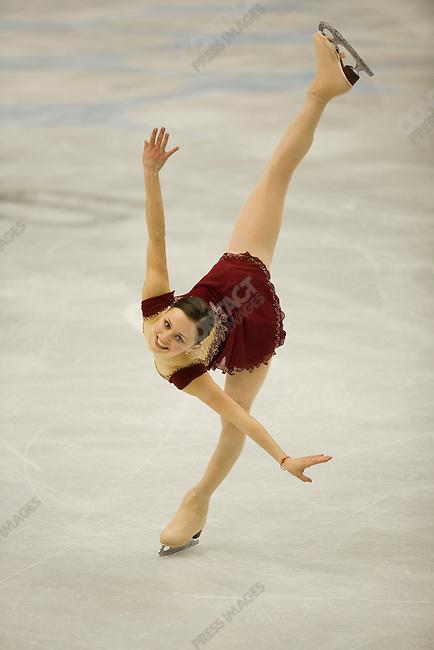 Women's free skating final at the Palavela during the Torino Winter Olympics. Silver medalist Sasha Cohen of USA.