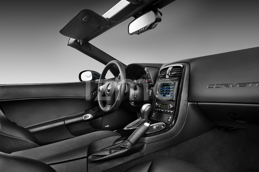 Low angle dashboard view of a 2010 Chevrolet Corvette GS Coupe