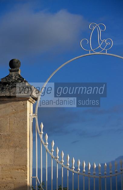 Europe/France/Aquitaine/33/Gironde/Saint-Julien: château Branaire Ducru (AOC Saint-Julien) - Détail de la grille [Non destiné à un usage publicitaire - Not intended for an advertising use]