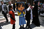 A Palestinian orphan children attend a celebration at Al-Amal Orphans Institute in Gaza City on March 31,2010 to mark the Arab Orphan Day. Photo by Ashraf Amra