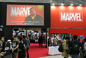 A TV screen shows a video message from C.B. Cebulski, writer and editor for Marvel Comics during the Tokyo Comic Con 2017 at Makuhari Messe International Exhibition Hall on December 1, 2017, Tokyo, Japan. This is the second year that San Diego Comic-Con International held the event in Japan. Tokyo Comic Con runs from December 1 to 3. (Photo by Rodrigo Reyes Marin/AFLO)