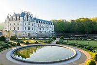 France, Indre-et-Loire (37), Chenonceaux, château et jardins de Chenonceau, jardin de Catherine de Médicis