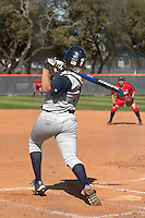 SAN ANTONIO, TX - MARCH 6, 2007: The St. John's University Red Storm vs. The University of Texas at San Antonio Roadrunners Softball at Roadrunner Field. (Photo by Jeff Huehn)