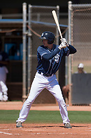 San Diego Padres right fielder Taylor Kohlwey (55) at bat during an Extended Spring Training game against the Colorado Rockies at Peoria Sports Complex on March 30, 2018 in Peoria, Arizona. (Zachary Lucy/Four Seam Images)