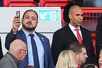New Charlton Athletic Owner, His Excellency Tahnoon Nimer takes a selfie as he awaits kick-off during Charlton Athletic vs Barnsley, Sky Bet EFL Championship Football at The Valley on 1st February 2020