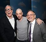 Scott Wittman, Christian Borle and Marc Shaiman during the Actors' Equity Gypsy Robe Ceremony honoring Katie Webber for  'Charlie and the Chocolate Factory' at the Lunt-Fontanne Theatre on April 23, 2017 in New York City.