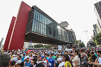 Thousands of runners take part in the 88th Sao Silvestre international race along Paulista Avenue in Sao Paulo, Brazil, on 31 December 2012. Twenty-five thousand runners participated in the 15 km traditional New Year's Eve event.  (PHOTO: VANESSA CARVALHO / BRAZIL PHOTO PRESS).