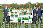The Listowel Celtic team that was crowned champions in Killarney on Saturday morning front row l-r: Breine Costello, Darragh O'Donoghue, Paul Stack, Jack Farrell, Sean Keane Captain, Micheál Kennedy, Jake Kelly and Kian Clancy. Back row: Jim Clancy, Eamon Rohan, Shane Loughnane, Jack Donovan, Cillian O'Gorman, Mark Gallivan, Killian Spillane, Conor Costello, Liam Kennedy and Mark Loughnane