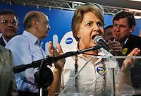SÃO PAULO,SP,28 DE AGOSTO 2012 - ELEIÇÕES SERRA A vice prefeita Alda Marco Antonio com o candidato a prefeitura de São Paulo José Serra se encontrou com eleitores e politicos na noite de hoje (28) no C.A. Juventus na Mooca,FOTO ALE VIANNA - BRAZIL PHOTO PRESS.
