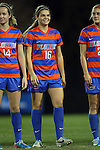 22 November 2013: Florida's Liz Slattery (16). The University of Florida Gators played the Duke University Blue Devils at Koskinen Stadium in Durham, NC in a 2013 NCAA Division I Women's Soccer Tournament Second Round match. Duke won the game 1-0.