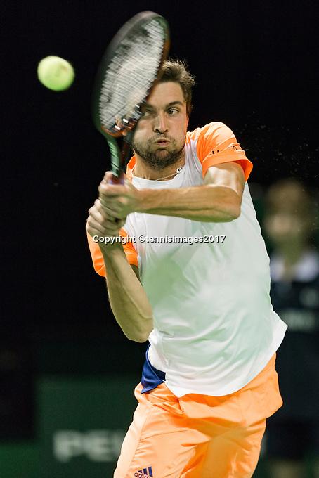 ABN AMRO World Tennis Tournament, Rotterdam, The Netherlands, 14 februari, 2017, Gilles Simon (FRA)<br /> Photo: Henk Koster