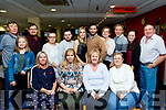Seated are the sisters of Mandy Pickett, Ballylongford, 2nd Lt , who celebrated her 50th birthday last Saturday night in the Kingdom Greyhound Stadium, Tralee along with many friends.