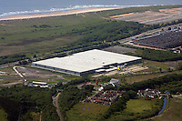 Aerial view of Amazon Fulfillment Centre near Swansea