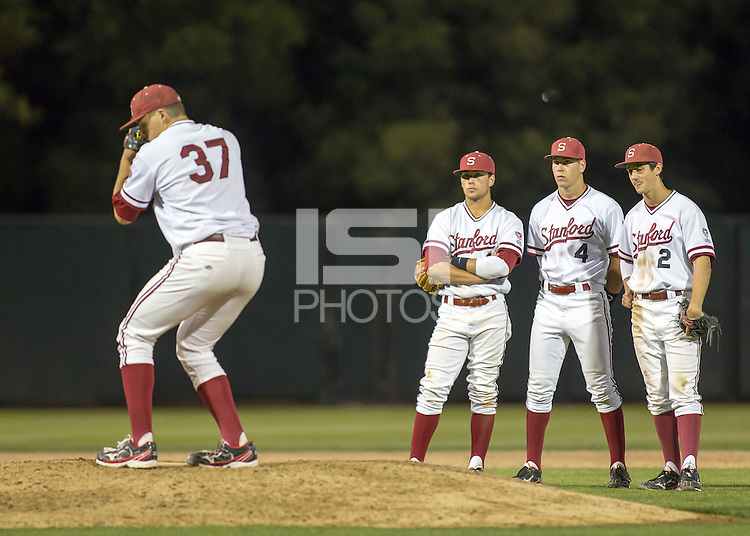 Stanford, CA - April 19, 2013 - Stanford University Baseball vs. Arizona at Sunken Diamond.  Stanford wins 4-3.