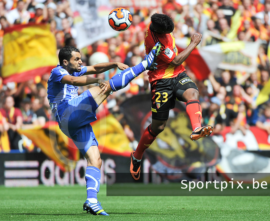 RC Lens - AJ Auxerre : Jamel AIT BEN IDIR (left) and Wylan Cyprien (right)<br /> foto David Catry / nikonpro.be