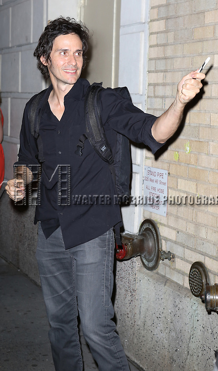 """Christian Camargo greeting fans at the stage door after the First Performance of """"Romeo And Juliet"""" On Broadway at the Richard Rodgers Theatre in New York City on 8/24/2013"""