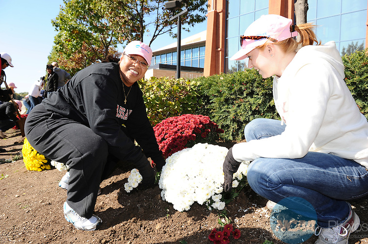 15 OCT 2011: Honorees participate in the planting of the NCAA Woman of the Year Legacy Garden during the 2011 NCAA Woman of the year celebration held in Indianapolis, IN.  Stephen Nowland/NCAA Photos