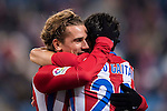 Antoine Griezmann of Atletico de Madrid celebrates scoring with teammates during their Copa del Rey 2016-17 Round of 16 match between Atletico de Madrid and UD Las Palmas at the Vicente Calderón Stadium on 10 January 2017 in Madrid, Spain. Photo by Diego Gonzalez Souto / Power Sport Images