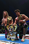 Juice Robinson, David Finlay during the IWGP Heavyweight Tag Team Championship Match New Japan Pro-Wrestling Wrestle Kingdom 14 at Tokyo Dome on January 4, 2020 in Tokyo, Japan. (Photo by New Japan Pro-Wrestling/AFLO)