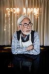 Tokyo, November 21st 2013 - Portrait of Japanese anime director Hayao MIYAZAKI at Studio Ghibli in the Koganei area.