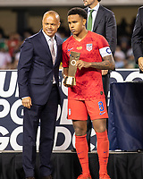 CHICAGO, IL - JULY 7: Weston Mckennie #8 receives the Concacaf Gold Cup Fair Play Award during a game between Mexico and USMNT at Soldier Field on July 7, 2019 in Chicago, Illinois.