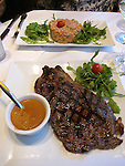 Steak au Poivre (Steak with pepper sauce) Paris, France