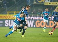 Piotr Zielinski of Napoli  during the  italian serie a soccer match,Atalanta - SSC Napoli at  the Atleti azure d'italia   stadium in Bergamo Italy , December 03, 2018