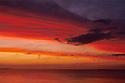 Sunset on altostratus clouds over Bass Strait, Tasmania