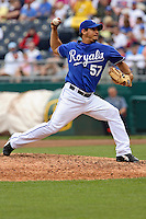 Royals RHP Joel Peraltra in action against Seattle at Kauffman Stadium in Kansas City, Missouri on May 27, 2007.  The Mariners won 7-4.
