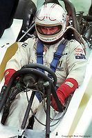 WATKINS GLEN, NY - OCTOBER 1: Alan Jones waits to drive the Williams FW06 001/Ford Cosworth during practice for the United States Grand Prix East on October 1, 1978, at the Watkins Glen Grand Prix Race Course near Watkins Glen, New York.
