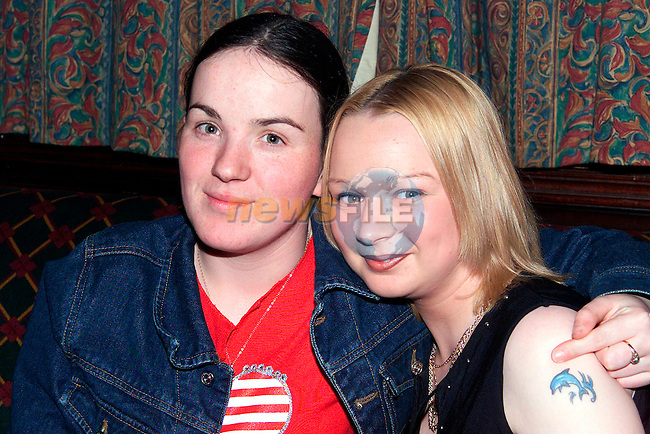 Annmarie Campbell, St. Finian's Park and Lisa Dyas, Rathmullen enjoying a night out in the Trinity Arms..Picture: Paul Mohan/Newsfile