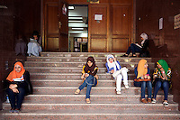 Students in Ain Shams University, Cairo. Egypt, October 2012.