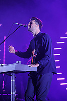LONDON, ENGLAND - NOVEMBER 8: Anthony West of 'Oh Wonder' performing at Brixton Academy on November 8, 2017 in London, England.<br /> CAP/MPI04<br /> &copy;MPI04/Capital Pictures