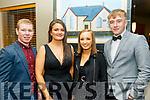 L-R Maudie O'Connor, Roisin O'Regan, Clodagh O'Carroll and Dan Godley  pictured at the Kilmoyley GAA annual social held in the Ballyroe Heights hotel, Tralee last Saturday night