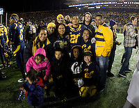 California running back Isi Sofele with his relatives pose together for group photo before the game against Oregon at Memorial Stadium in Berkeley, California on November 10th, 2012.   Oregon Ducks defeated California Bears, 59-17.