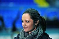 "Anna Bessonova of Ukraine interviews with tv press before 2011 World Cup Kiev, ""Deriugina Cup"" in Kiev, Ukraine on May 05, 2011."