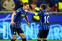 6th November 2019, Milan, Italy; UEFA Champions League football, Atalanta versus Manchester City; Mario Pasalic of Atalanta BC celebrates the goal for 1-1 in the 49th minute