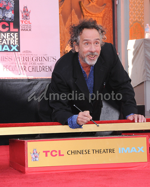 08 September 2016 - Hollywood, California. Tim Burton. Tim Burton Hand And Footprint Ceremony held at TCL Chinese Theatre. Photo Credit: Birdie Thompson/AdMedia