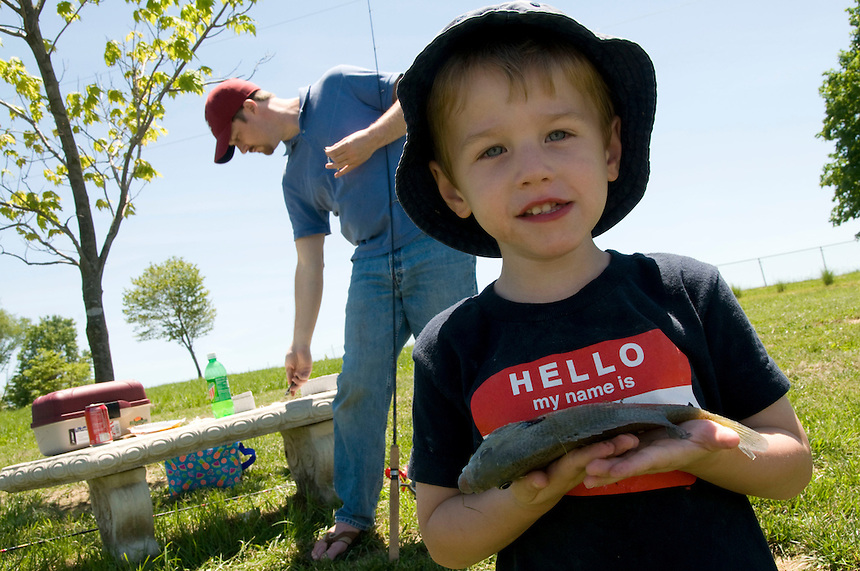 Jacob's first fish. (Photos by James J. Lee / J.Lee Photography, Inc.)