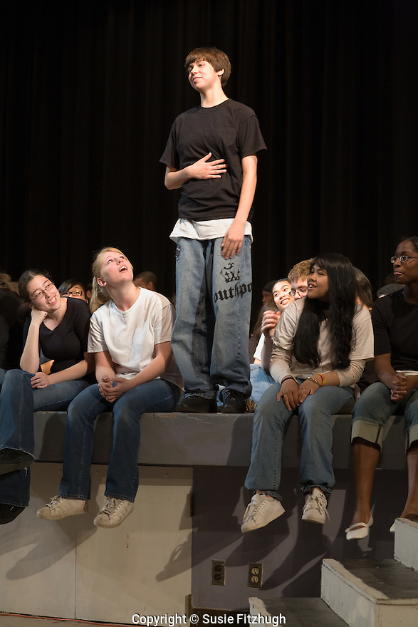 Ninth-graders at Chief Sealth High School perform a series of short plays of poems they wrote themselves. This was a production of the ninth-graders, Book-It Theatre Company and Writers in the Schools.