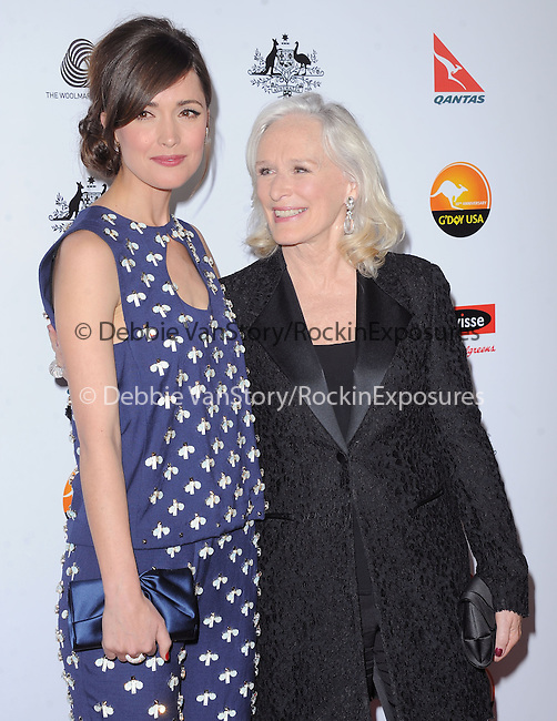 Glenn Close and Rose Byrne at The G'Day USA Black Tie Gala held at The JW Marriot at LA Live in Los Angeles, California on January 12,2013                                                                   Copyright 2013 Hollywood Press Agency