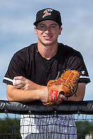 Kannapolis Intimidators pitcher Alex Katz poses for a photo prior to the game against the Augusta GreenJackets at Intimidators Stadium on May 30, 2016 in Kannapolis, North Carolina.  The GreenJackets defeated the Intimidators 5-3.  (Brian Westerholt/Four Seam Images)