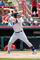 Binghamton Mets first baseman Jayce Boyd (15) at bat during a game against the Erie Seawolves on July 13, 2014 at Jerry Uht Park in Erie, Pennsylvania.  Binghamton defeated Erie 5-4.  (Mike Janes/Four Seam Images)