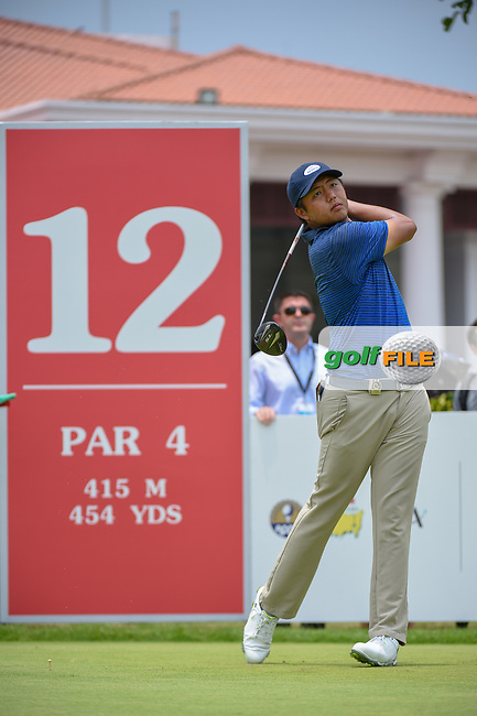 KK LIMBHASUT (THA) watches his tee shot on 12 during Rd 4 of the Asia-Pacific Amateur Championship, Sentosa Golf Club, Singapore. 10/7/2018.<br /> Picture: Golffile   Ken Murray<br /> <br /> <br /> All photo usage must carry mandatory copyright credit (© Golffile   Ken Murray)